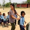 Actress Selena Gomez Visits Nepal to Meet Children