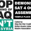 "Protest: ""Stop the Bombing of Iraq – Don't Attack Syria"""