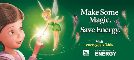 Disney Fairy Tinker Bell Offers Tips to Save Energy