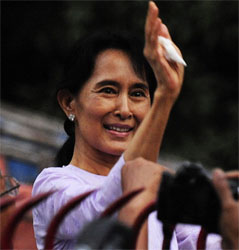Nobel Prize Winner Suu Kyi Wins Election in Myanmar