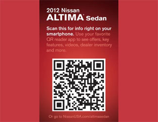 Nissan Vehicles to Come with QR Codes