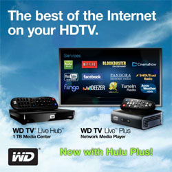 Hulu Plus Service Coming on WD Media Players
