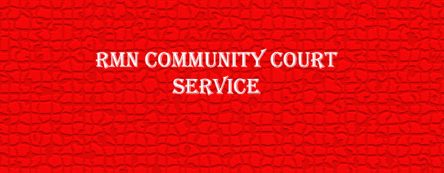 RMN Community Court Service for Online Justice