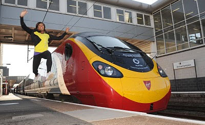 Mobile QR Codes to Catch Virgin Trains