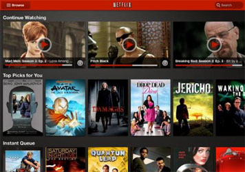 Netflix TV Shows and Movies on Android Tablets