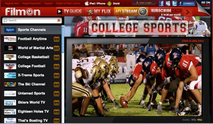 Football and Basketball Channels for the Internet