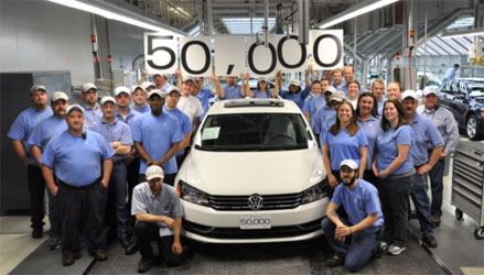Volkswagen Chattanooga Completes 50,000th Car