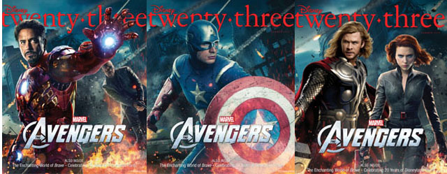 Avengers on Disney's D23 Magazine Covers