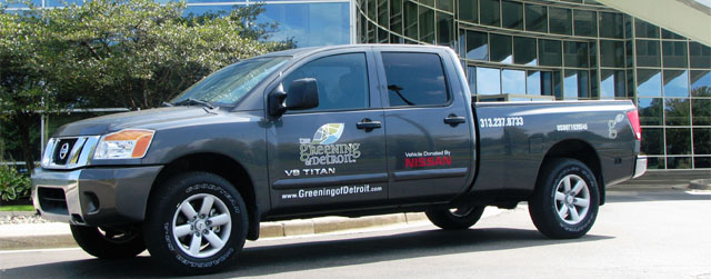 Nissan Supports Greening of Detroit