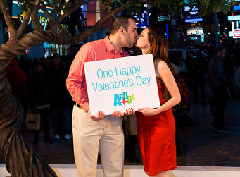 Aruba One Happy Island in Times Square for Lovebirds