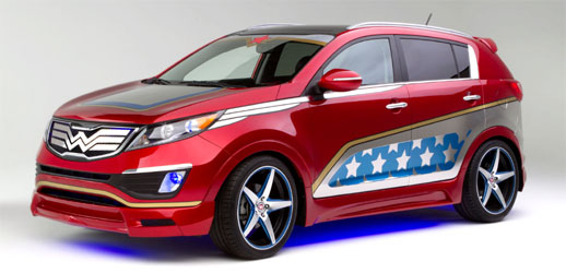 Comic Character Wonder Woman to Drive Kia Car