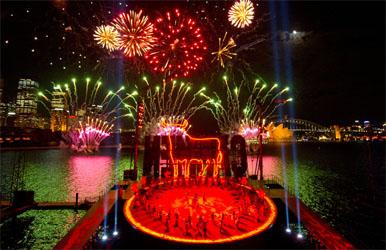 Carmen Lights Up Sydney Harbour