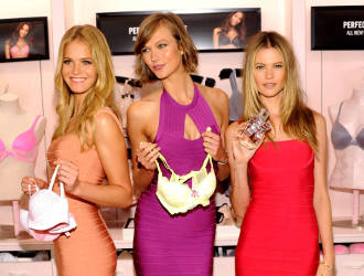 Supermodels Erin Heatherton, Karlie Kloss, and Behati Prinsloo