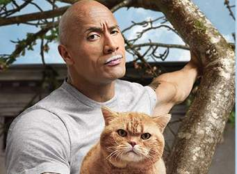 Actor Dwayne Johnson in Milk Mustache Ad