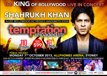 Shahrukh Khan in Sydney for Temptation Reloaded