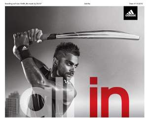 Virat Kohli Is the New Face of Adidas Cricket