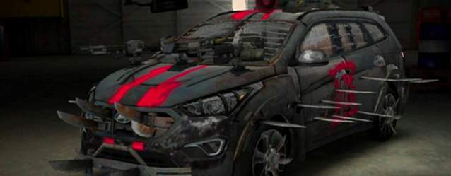Hyundai's Santa Fe Zombie Survival Machine