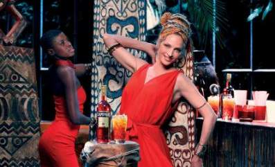 Hollywood Star Uma Thurman in Campari Calendar