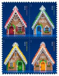 Gingerbread Houses Forever stamps