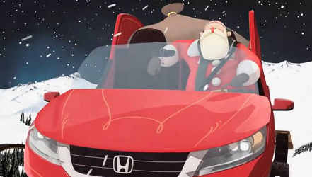 Santa's Sleigh in Honda's Holiday Campaign