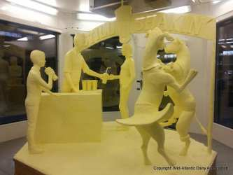 1,000-Pound Butter Sculpture