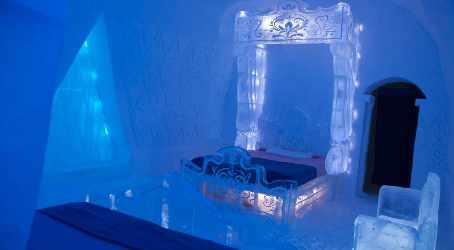 Disney Frozen for Frozen Suite in Ice Hotel