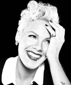 Grammy Award-winning singer and actress Pink
