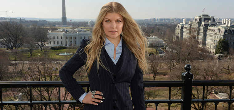 Avon Foundation Global Ambassador Fergie in Washington, D.C. where she announced the new Justice Institute on Gender-Based Violence with the Avon Foundation, Vital Voices, and the U.S. State Department on March 20, 2014.