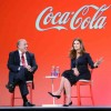 Coca-Cola CEO Muhtar Kent with Maria Shriver