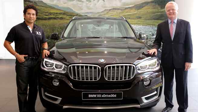 Sachin Tendulkar Launched BMW X5 in India