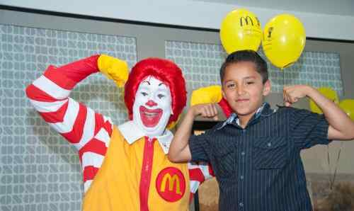 Jacob with Ronald McDonald