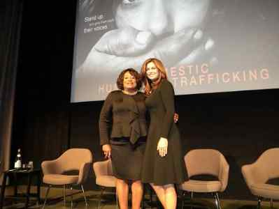 Kathy Ireland with YWCA Greater Los Angeles President & CEO Faye Washington