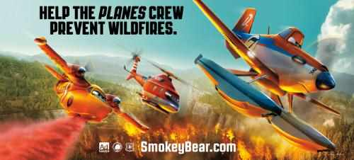 Disney Characters in Wildfire Prevention Ads