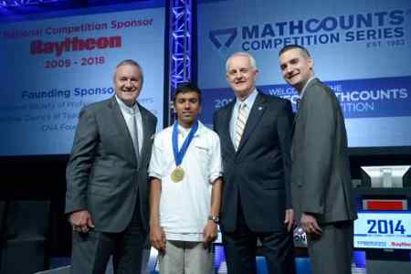 Swapnil Garg won the 2014 Raytheon Mathcounts National Competition