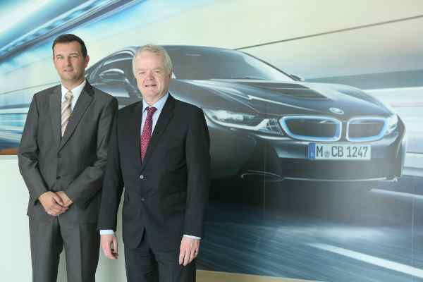 L to R Mr. Robert Frittrang, Managing Director, BMW Plant Chennai with Mr. Philipp von Sahr, President, BMW Group India at BMW Plant Chennai