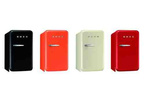 Smeg Launches Small Fridge in Four Colors