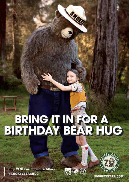 Smokey Bear Celebrates His 70th Birthday