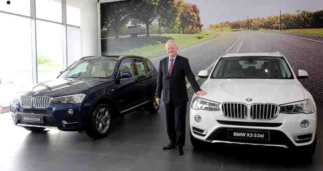 Philipp von Sahr, President, BMW Group India with the new BMW X3