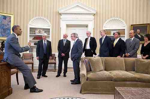 President Obama Meets U.S. Laureates of 2014 Kavli Prizes