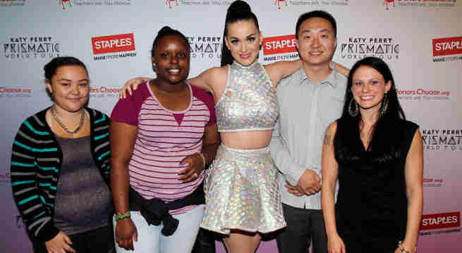 Katy Perry and Staples Join Hands to Help Teachers