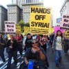 Protests Against Bombing