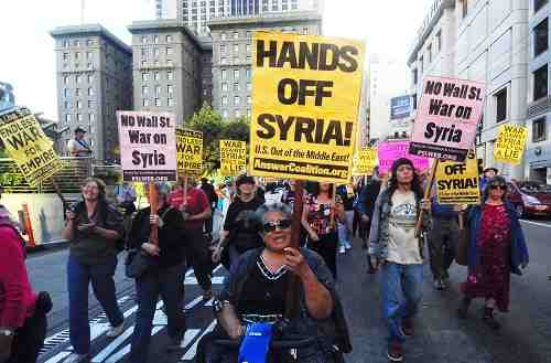 Protests Launched Against the U.S. Bombing of Syria