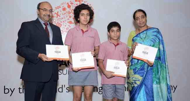 Deepak Mehrotra, Managing Director, Pearson India and Lata Vaidyanathan, Former Principal, Modern School, at the launch of 'Pearson Voice of Teacher Survey 2014' in New Delhi