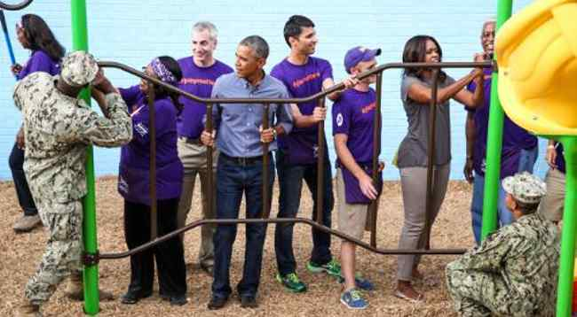 President Obama and the First Lady Join KaBOOM!