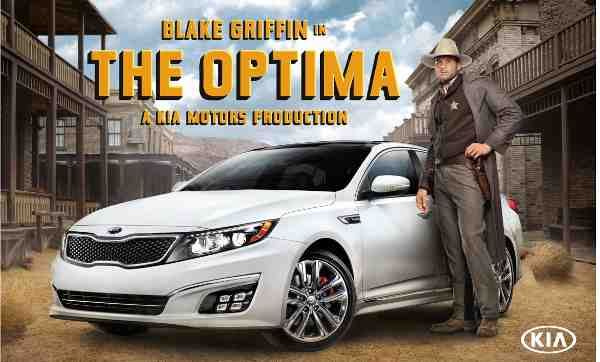 NBA All-Star Blake Griffin Stars in Kia Optima Ad Campaign