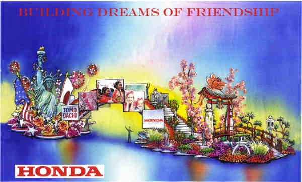 Honda Building Dreams of Friendship in Rose Parade