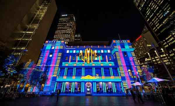 Vivid Sydney 2014 PlayMe Customs House Brett Hemmings Destination NSW
