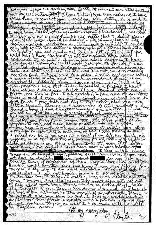Kayla Mueller Letter