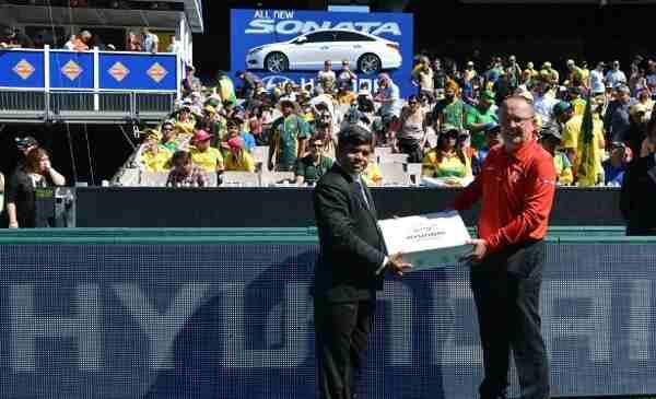 Hyundai ceremony for icc cricket world cup for Hyundai motor myanmar co ltd