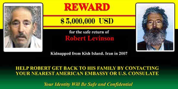 FBI Reward of $5 Million in Robert Levinson Case